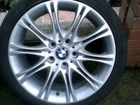BMW MV2 8.5J X 18 REAR WHEEL WITH GOOD TYRE FOR 3 SERIES