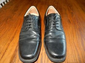Henley Comfort Black Leather Brydon Shoes Size 9