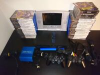 PS2 Console With Travel Pack,39 Games and accessories Bundle