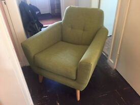 Green Fabric Armchair - Barely Used!