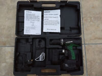 Hitachi 18V Combi Battery drill, charger & two batteries in original case.