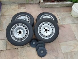Vauxhall Vivaro 13 plate steel wheelset with tyres