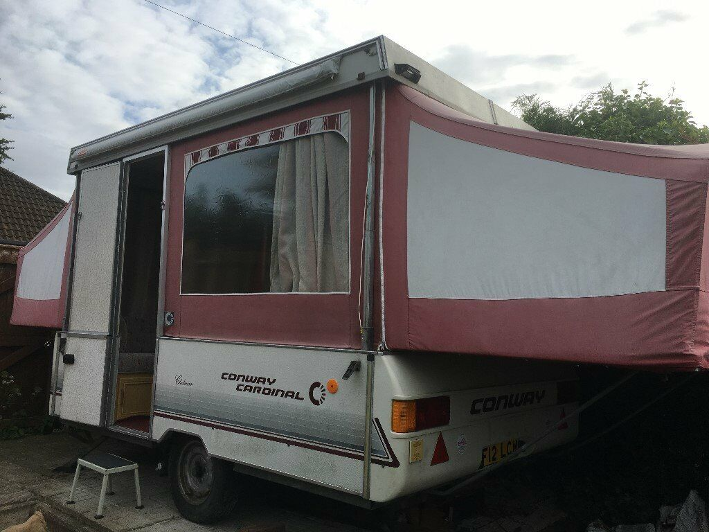 6 berth hard top Conway Cardinal Clubman folding camper ...
