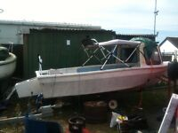 16 foot fishing boat with 2 foot pod will take up to 100hp outboard