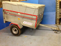 ERDE 121 CAR TRAILER WITH EXTENSION, COVER & SPARE WHEEL