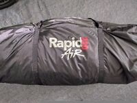 Rapid Air 220 Inflatable Caravan Porch Awning, Including Pump & Awning Skirt. Never Used. Immaculate