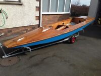 Fireball 16ft wooden sailing dinghy REDUCED need gone asap(notgp14,Scorpoin,rs400)boat