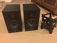 Adam A5X Pair + ISO Acoustic Stands