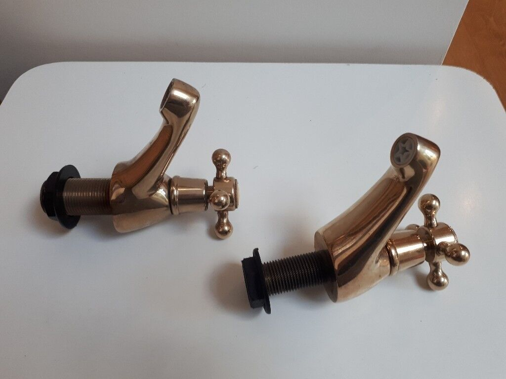 Bath / Sink Taps. Gold Vintage Bathroom Taps. | in Ferring, West ...