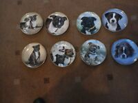 danbury mint staffie plates and table