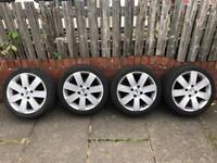 """Set of 16"""" Ford Alloy Wheels with good tyres"""