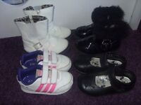 Size 6 toddler shoes, trainers and boots.