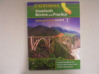 (McDougal Math Algebra 1 CA Standards Review 0618893431 )