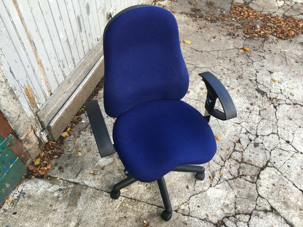 Blue computer chair / office home furniture