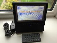 Portable next base tablet style dvd CD player vgc car charger remote control