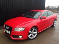 2010 Audi A5 3.0 TDI S Line Sportback S Tronic Quattro 5dr Diesel May PX Finance Available.