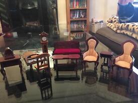 Vintage dolls house furniture.
