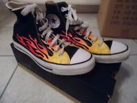 Converse All Star Flames Size 7 (40)