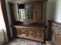 oak wall cupboard