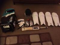 Junior GM cricket equipment
