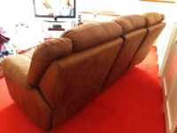 Harveys 3 seater and 2 seater Recliners sofas.. Brown.newbuck/suede. Good clean Cond