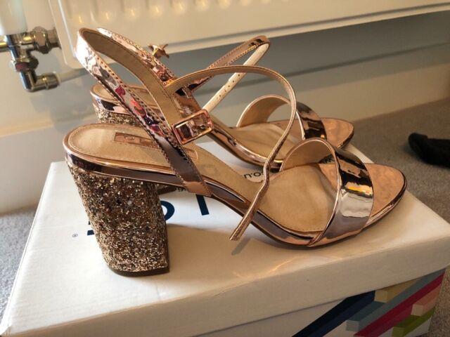 278c8f243665 Office Glitter Rose Gold Sandal Heels UK size 6.5 | in Hackney ...