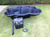 Garden pond liner and UV filter