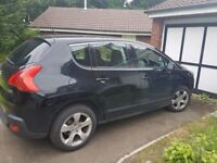 Peugeot 3008 black Aircon.tailgate .large boot capacity