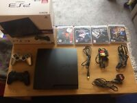 Playstation3 + 4 games + HDMI cabe + extra controller