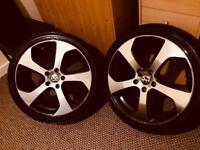 "Vw/ Audi/skoda 18"" Gti mk7 Style Alloy wheels / tyres x4"
