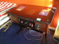 Arcade table video machine 1980s