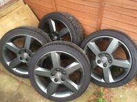 Vauxhall 5stud 17inch alloys