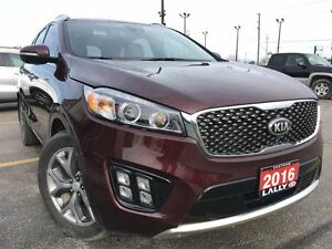 2016 Kia Sorento 3.3L SX+, 360 Camera, Leather, Pan. Roof, 7 Sea