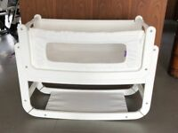SnuzPod² Bedside Crib and Mattress (White)