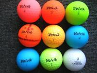 9 VOLVIK golf balls in immaculate condition, i4pc, vivid, crystal