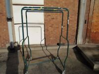 Strong Double Clothing Rail Large Rotating Wheels