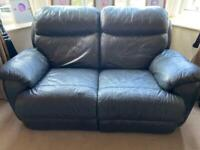 Leather recliner sofas x 2