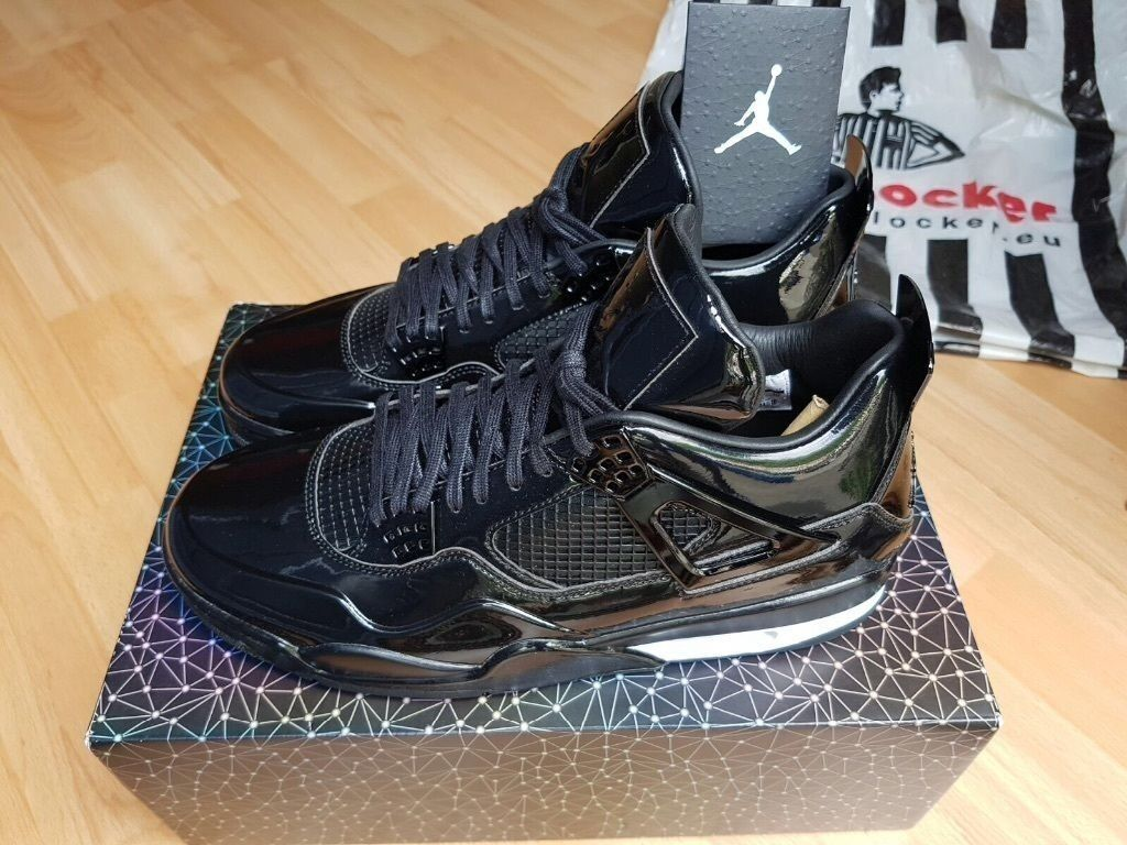 Nike Air Jordan 4 11Lab4 BLACK Patent Leather UK10 QS LIMIT EDITION  RARE FOOTLOCKER Receipt 100sales 76ecc2e487