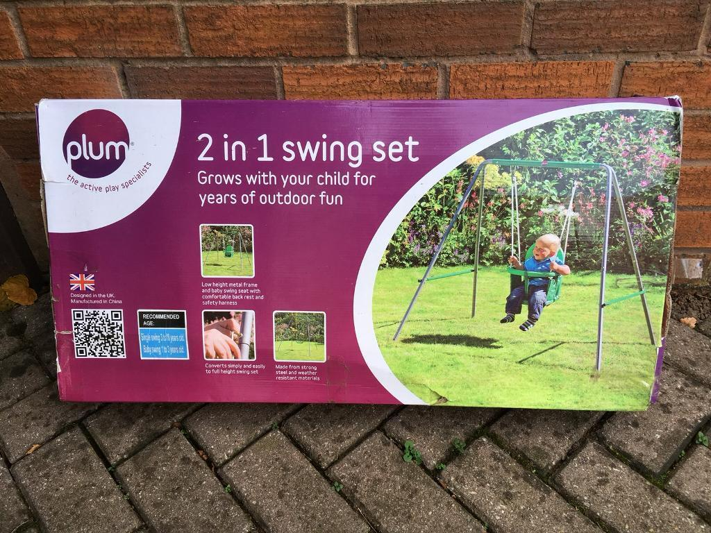Child's 2 in 1 Swing set. Hardly used in good condition.