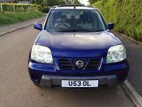 Nissan X trail Sport 2003 (53) Di 112bhp Diesel stunning blue low mileage 77600, 4X4, FSH, Long MOT