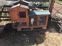 2 outdoor rabbit or guinea pig hutches