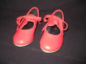 Girl's Red Dance Gear Tap Dance Shoes