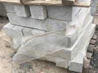 Granite kerbs , slabs , concrete chambers