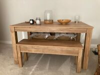 Next Bronx dining table and bench set.