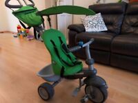 Smart Trike 4-in-1 toddler ride on bike, green, good condition