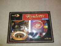 Portable mini roulette bowl and chips