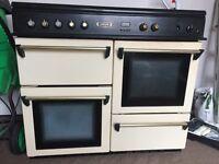 Cream gas range cooker