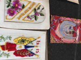 Genuine silk postcards sent from the 1914-18 war..
