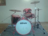 Drum Kit (ddrum diablo) 5 piece kit with hardware