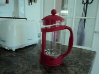 M&S SMALL VIBRANT RED COLOUR CAFETIERE – BRAND NEW/UNUSED.